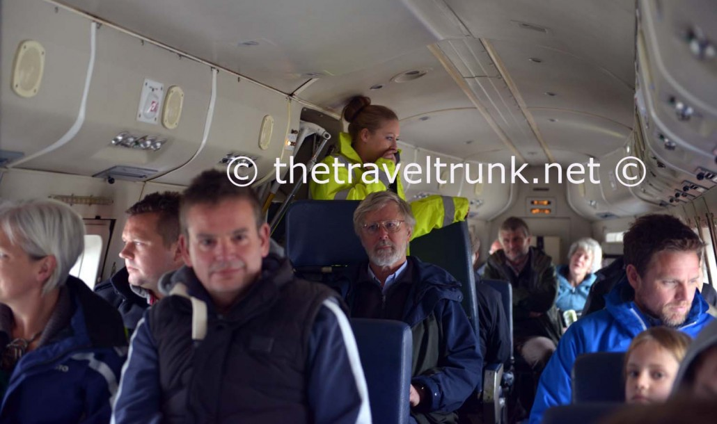 Passengers on one of the last flights.