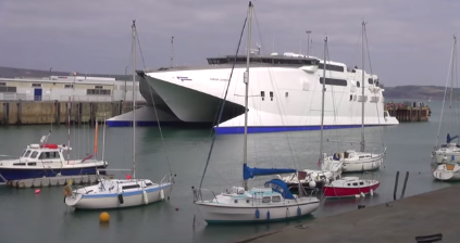 Last Condor Ferries Leave Weymouth Harbour Dorset UK