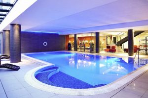 Swimming pool at Qatar Airways  Edinburgh Park Hotel