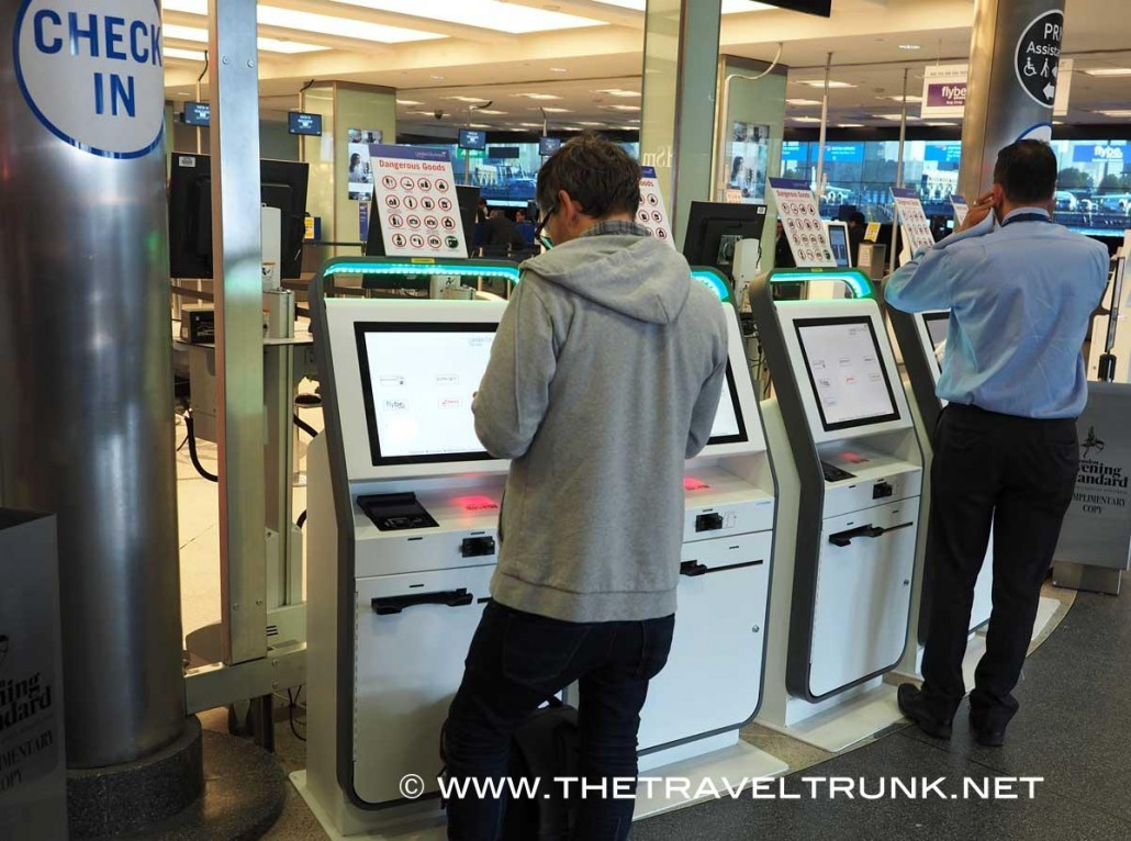 London City Airport check in machines
