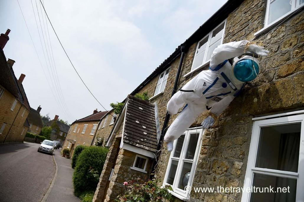 Spaceman scarecrow