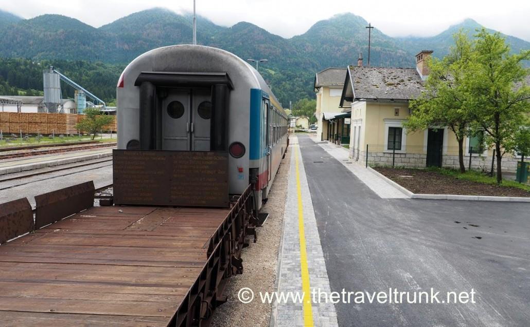 Car train in station