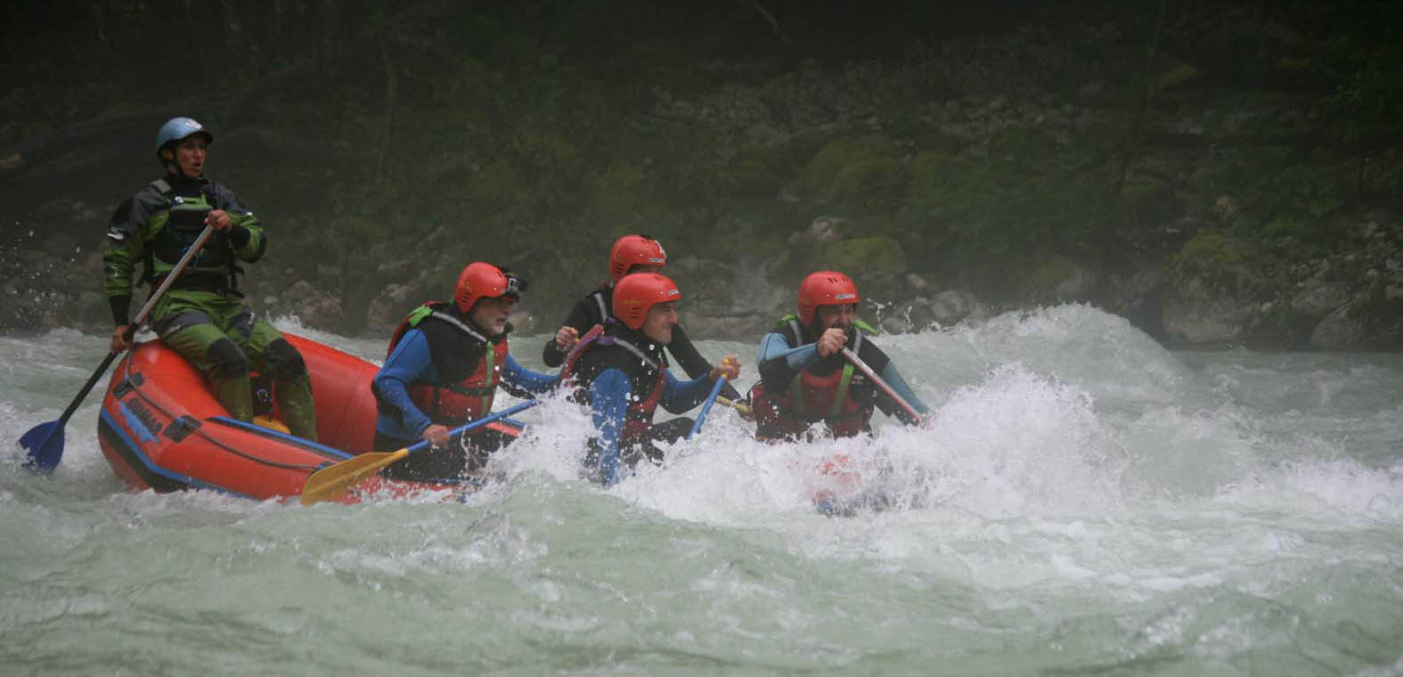 WHITE-WATER RAFTING IN SLOVENIA