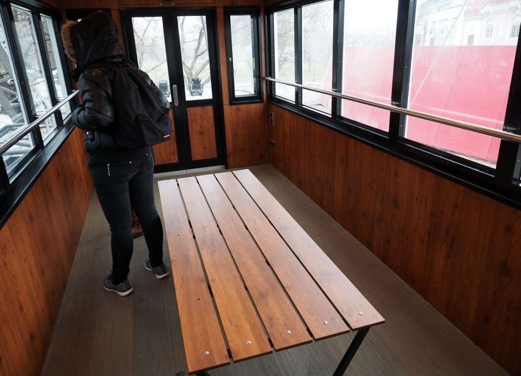 Plastic ride cabin.