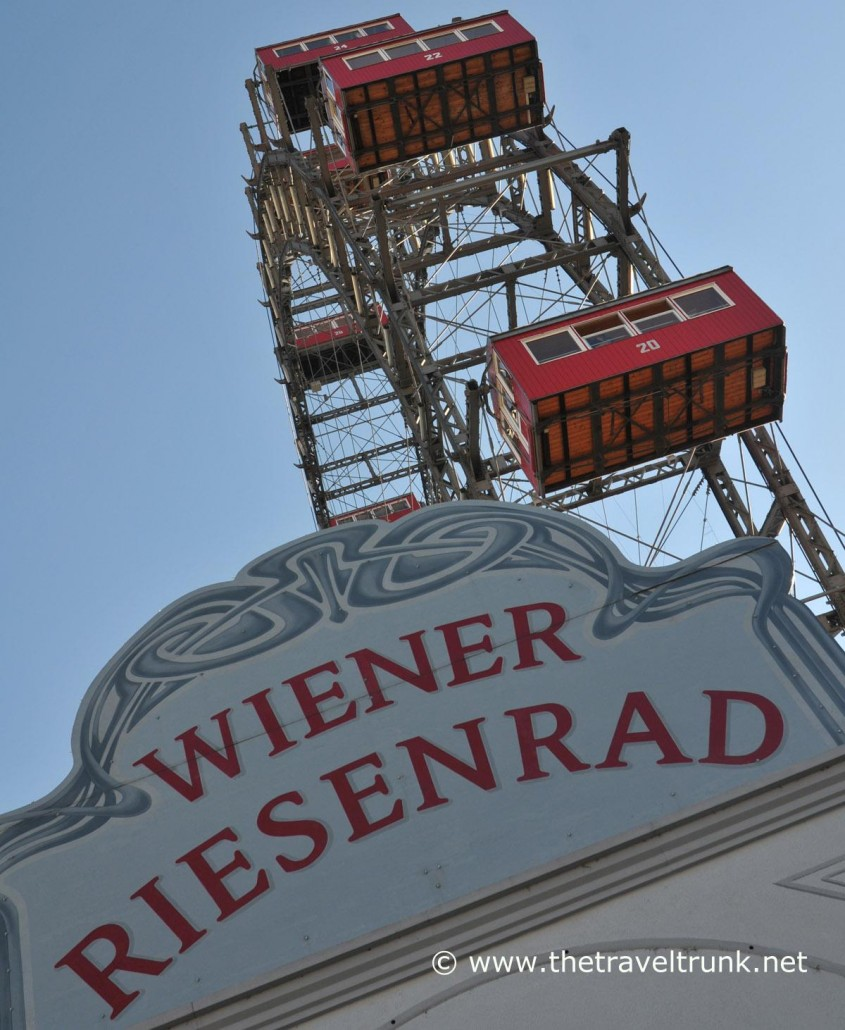 The older wooden cabins. The Riesenrad giant Ferris wheel in Vienna has replaced its iconic gondolas with more modern plastic ones. Picture by: © Geoff Moore/www.thetraveltrunk.net