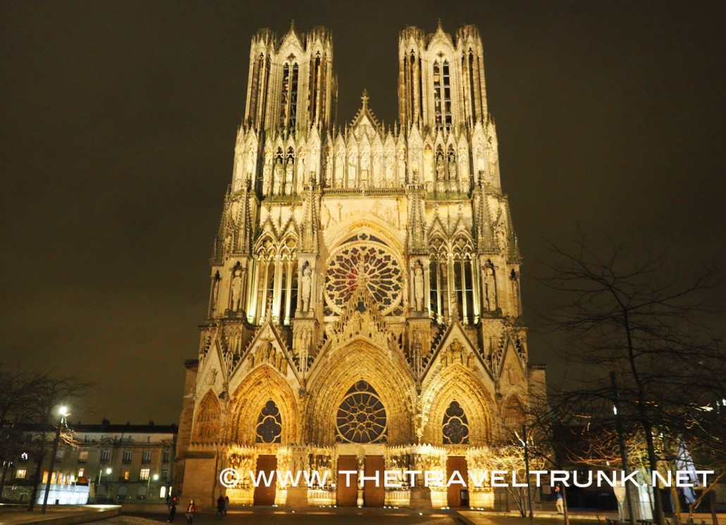The city of Reims is the centre of champagne.