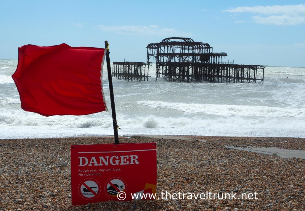 The West Pier suffered from fires and storms.