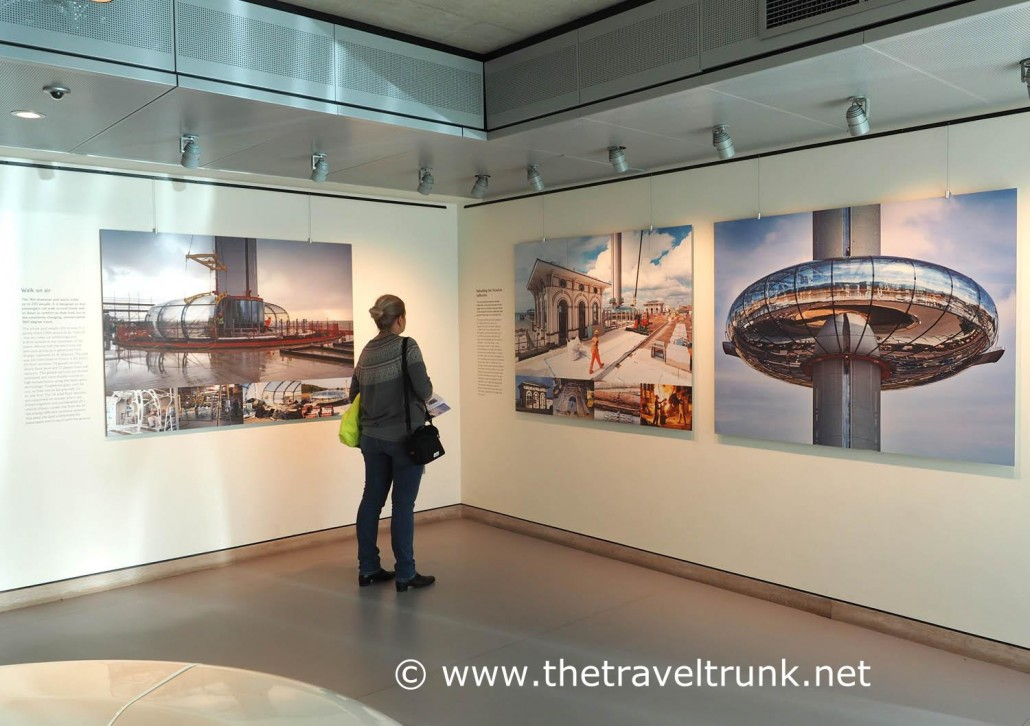 British Airways i360 exhibition about its construction.