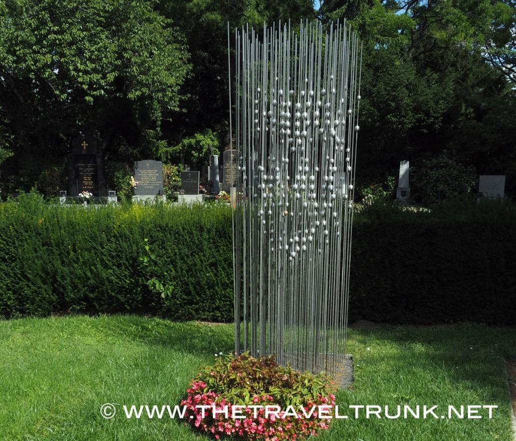 Hedy Lamarr's marker at Central cemetery ( Zentralfriedhof) Vienna, Austria.