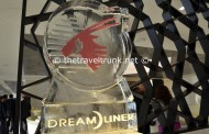 Qatar Dreamliner arrives at Heathrow