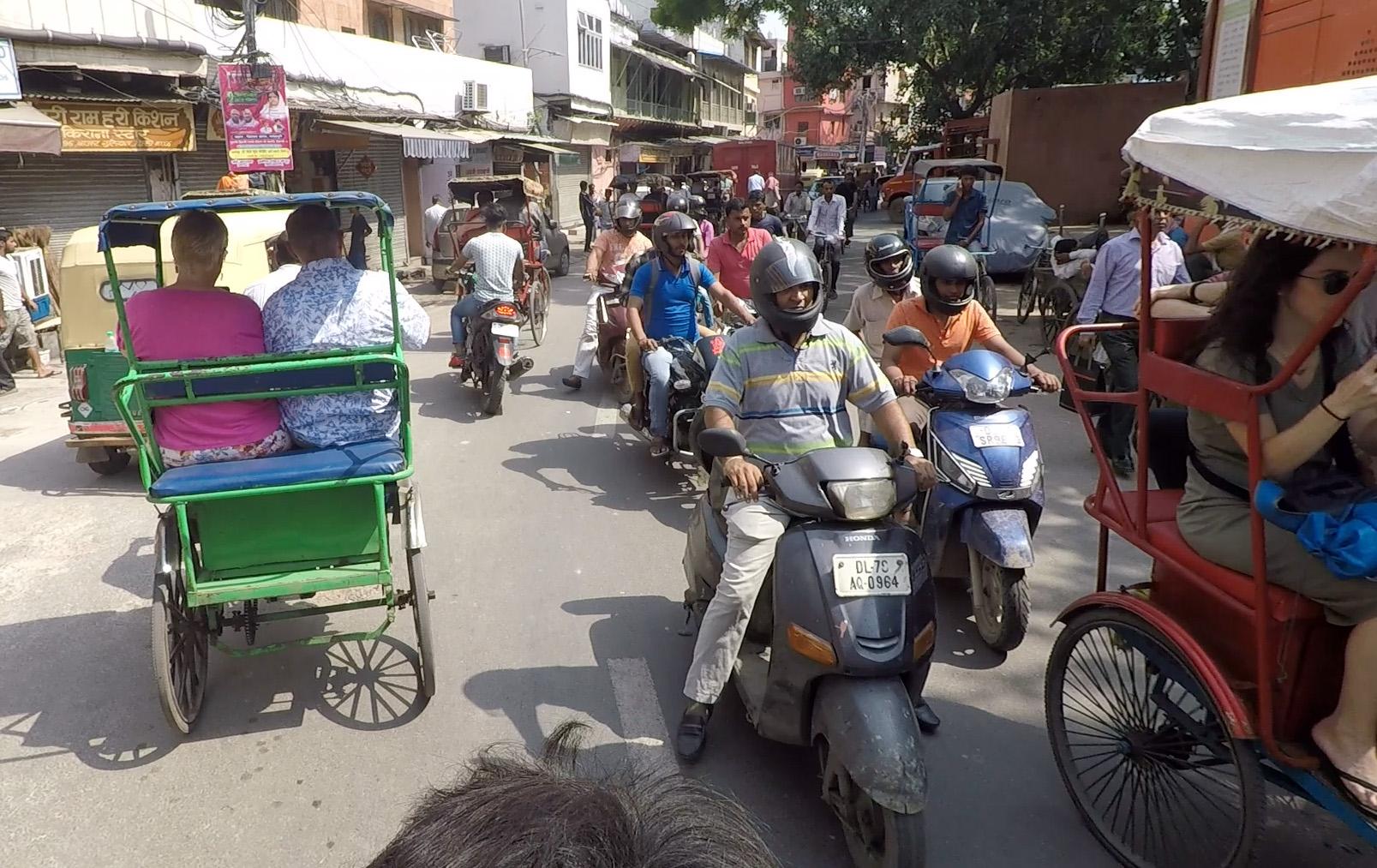 RIOT OF RICKSHAWS IN NEW DELHI