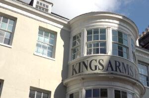 Kings Arms window.